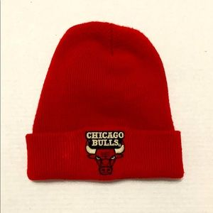CHICAGO BULLS Winter Beanie Knit Hat Red